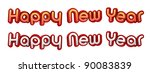 happy new year. high resolution ... | Shutterstock . vector #90083839