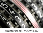Rows Of Numbers On Mechanical...