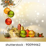 Light Christmas Background Wit...