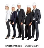 portrait of team of confident... | Shutterstock . vector #90099334