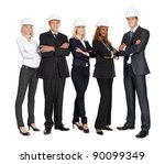 team of successful construction ... | Shutterstock . vector #90099349