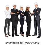 team of successful construction ... | Shutterstock . vector #90099349