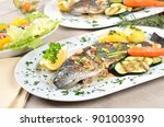 Small photo of Trout amandine (fried trout with butter, lemon and almonds)