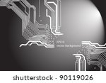 Microchip background - stock vector