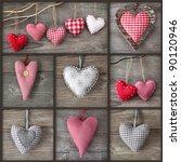 collage of photos with hearts... | Shutterstock . vector #90120946
