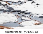 Icy Torrent During Winter