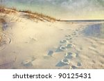 Footprints In The Sand Dunes...