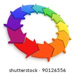 arrows color wheel 3d. see my... | Shutterstock . vector #90126556
