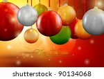 christmas decoration balls  ... | Shutterstock .eps vector #90134068
