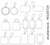 set of labels and tags with... | Shutterstock .eps vector #90135724