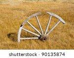 Broken Wagon Wheel At Bodie  A...