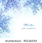 snowflake decorative border ... | Shutterstock . vector #90136543