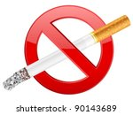 no smoking sign on a white... | Shutterstock .eps vector #90143689