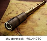 Close Up Of A Spyglass On The...