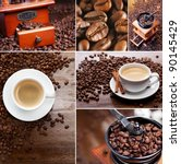 Collage Of Coffee