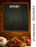 photo of blackboard with... | Shutterstock . vector #90145654