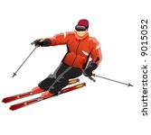sport icons  mountain skier | Shutterstock . vector #9015052