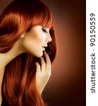 Small photo of Beauty Portrait.Healthy Hair