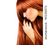 healthy long hair | Shutterstock . vector #90150571