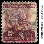 Small photo of USA - CIRCA 1965: A stamp printed in USA shows Frederick Douglass, circa 1965.
