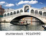 Venice  Rialto Bridge With...