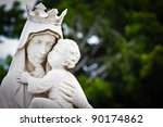 Marble Statue Of The Virgin...