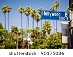 Hollywood Boulevard Sign  With...