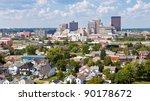Skyline of Dayton, Ohio and Surrounding Neighborhoods