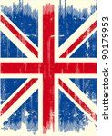 uk dirty flag. a uk flag with a ... | Shutterstock .eps vector #90179953