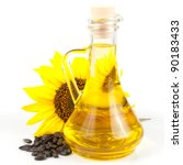 Sunflower Seed Oil Isolated On...