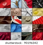 clothes fragments collection | Shutterstock . vector #90196342