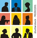 collection of various people... | Shutterstock .eps vector #90202201