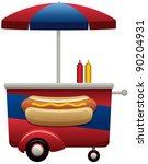 hot dog cart | Shutterstock . vector #90204931