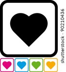 heart   vector icon isolated on ...   Shutterstock .eps vector #90210436