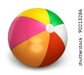 color beach ball isolated on... | Shutterstock . vector #90213286