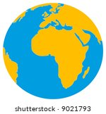 world globe. vector illustration | Shutterstock .eps vector #9021793