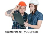 female architect and male...   Shutterstock . vector #90219688