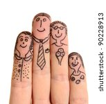 fingers family isolated on... | Shutterstock . vector #90228913
