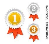 gold  silver and bronze award... | Shutterstock .eps vector #90230998
