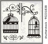 Vintage Bird Cages With...