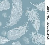 seamless feather pattern | Shutterstock .eps vector #90241885