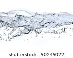bubles in water isolated on white - stock photo