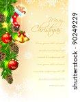 illustration of christmas card... | Shutterstock .eps vector #90249229