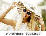 Beautiful Girl In Sunglasses...