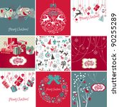 set of christmas cards | Shutterstock .eps vector #90255289