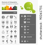 elements of infographics with... | Shutterstock .eps vector #90261751