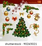 christmas vector set of fir... | Shutterstock .eps vector #90265021