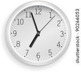 white vector clock.