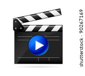 open movie clapboard on white...   Shutterstock .eps vector #90267169