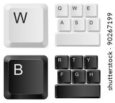 white and black computer keys....